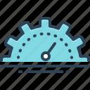 analyzer, capacity, efficient, gauge, optimization, productivity, speedometer icon