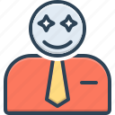 affect, conclusion, smiley, customer, reaction, impress, happy icon