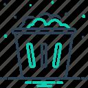 debris, dump, dustbin, garbage, household, rubbish, used