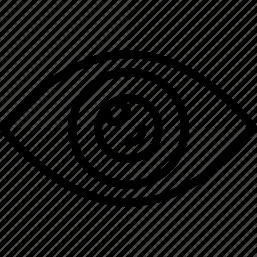 eyeball, lens, optical, sight, view, visible, vision icon