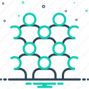 collective, crowd, group, horde, majority, mass, mob icon