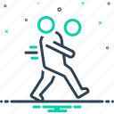 action, activity, anthletic, energy, movement, play icon