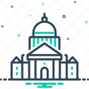 architecture, building, capital, courthouse, dome, federal, history icon