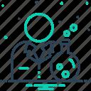 beaker, chemist, container, experiment, exploration, pharmaceutical, scientist icon
