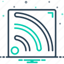 antenna, counication, feed, internet, net, news, rss icon