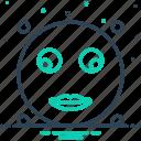 emoji, glance, glimpse, look, look briefly, peep, scintilla