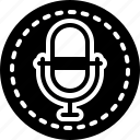 announcing, audio, equipment, event, microphone, recording, sound icon