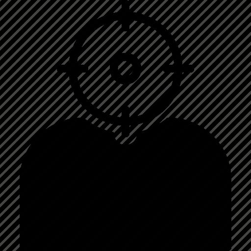 headshot, people, shot, target icon