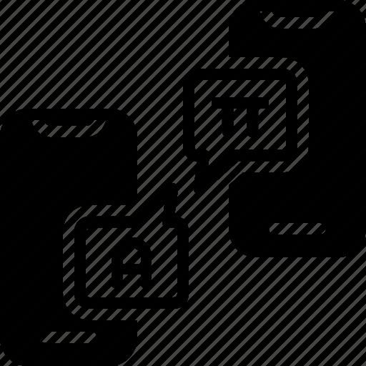 decode, exhort, interpret, translation icon