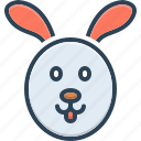 animal, cony, face, hare, rabbit, wild, wooded