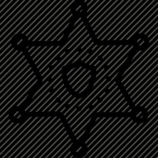 Authority, badge, decoration, deputy, hexagram, sheriff, star icon - Download on Iconfinder