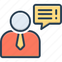 advice, guidance, conversation, request, counsel, chat, bubble icon