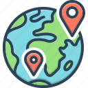 geographical, gps, location, map, pointer, regional, territorial icon