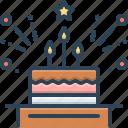 birthday, burning, candles, celebration, decoration, event, party