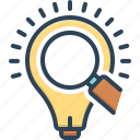 bulb, creativity, electrical, electricity, idea, insight, led icon