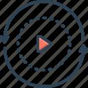 again, button, circle, play, refresh, replay, rewind