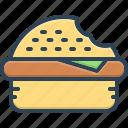 bite, burger, core, fast food, food, kerf, notch