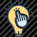 click, concept, encourage, inspire, motivate, solution, stimulate