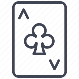 ace, card, casino, clubs, gambling, miscellaneous, poker icon
