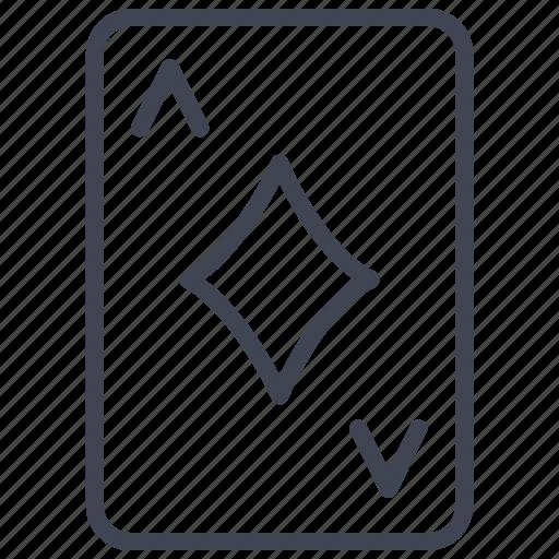 Ace, diamonds, card, casino, diamond, poker icon - Download on Iconfinder