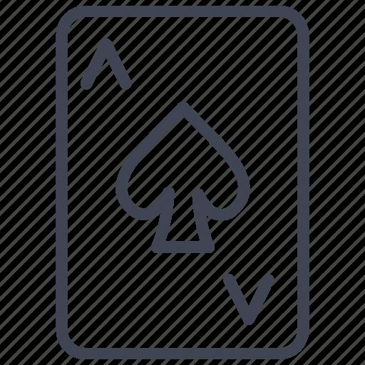 ace, card, casino, gambling, miscellaneous, poker, spades icon