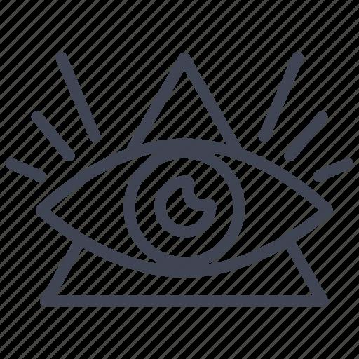 all, eye, miscellaneous, pyramids, seeing icon