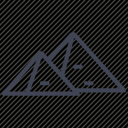 culture, egypt, egyptian, miscellaneous, pyramid, pyramids icon