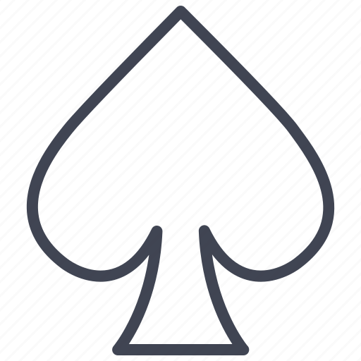 Spades, casino, gambling, game, miscellaneous, poker icon - Download on Iconfinder