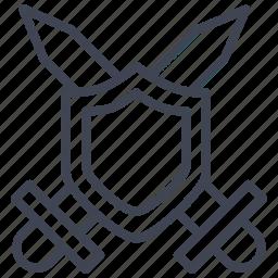 crossed, guard, miscellaneous, shield, swords icon