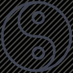 miscellaneous, sign, yang, ying, yinyang icon