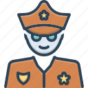 cop, hat, lawman, patrolman, peeler, policeman, uniform