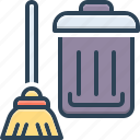 bucket, clean, cleanly, distinguishable, spick, squeaky clean, sweeping icon