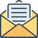 antecedently, communication, already, letter, message, beforehand, read icon