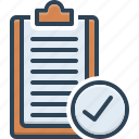 complete, already, antecedently, message, paper, beforehand, selected icon