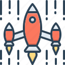 aggression, attack, exploration, invasion, onslaught, rocket icon