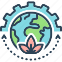 continue, earth, harbor, harbour, keep, leaf, sustain icon