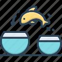 another, different, fish, aquarium, jump, fishbowl, sea