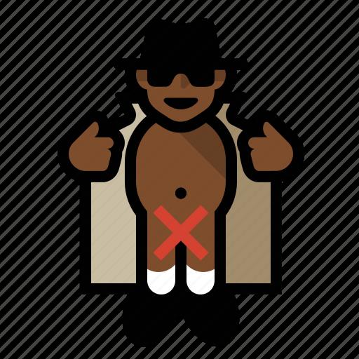 creep, flasher, nude, pervert, trench coat icon