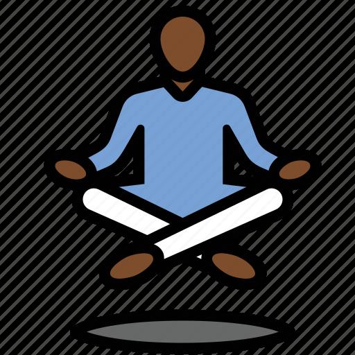 levitate, levitation, meditate, meditation, yoga, yogi icon
