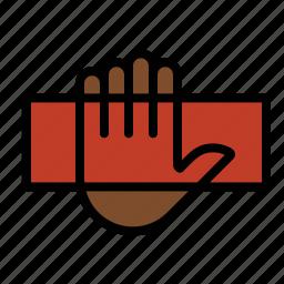 biometrics, fingerprint, hand reader, palm scanner icon