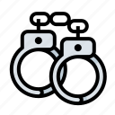 cop, cuffs, hand cuffs, police, restraint, shackles icon
