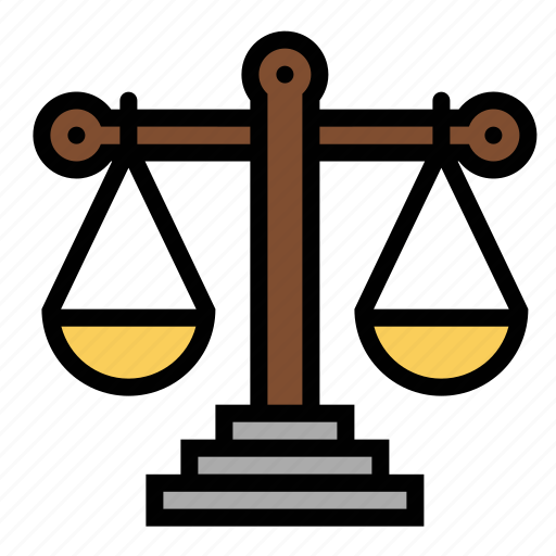 equal, justice, law, scale, weight icon