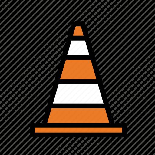 cone, danger, orange cone, warning icon