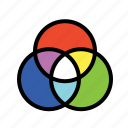 color picker, color wheel, colors, prism icon
