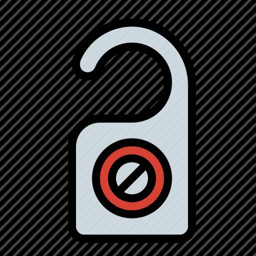 do not disturb, door hanger, hotel, privacy icon