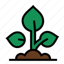 farm, farming, grow, growth, plant, seedling icon