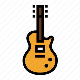 electric guitar, guitar, les paul, music, musician icon