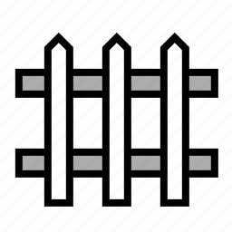 fence, picket fence, white picket fence, yard icon