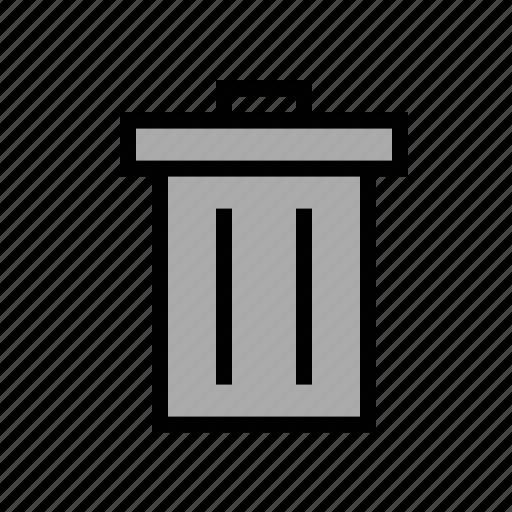 garbage, trash, trash can, waste bin icon
