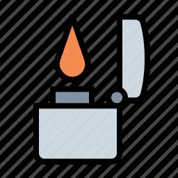 flame, lighter, smoker, zippo icon